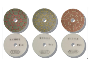 Diamond discs for polishing marble and stone